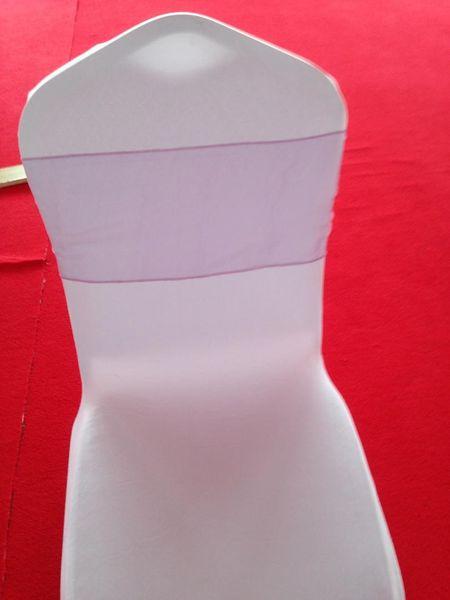 Fuscia per sedia in lillà di organza viola chiaro all'ingrosso