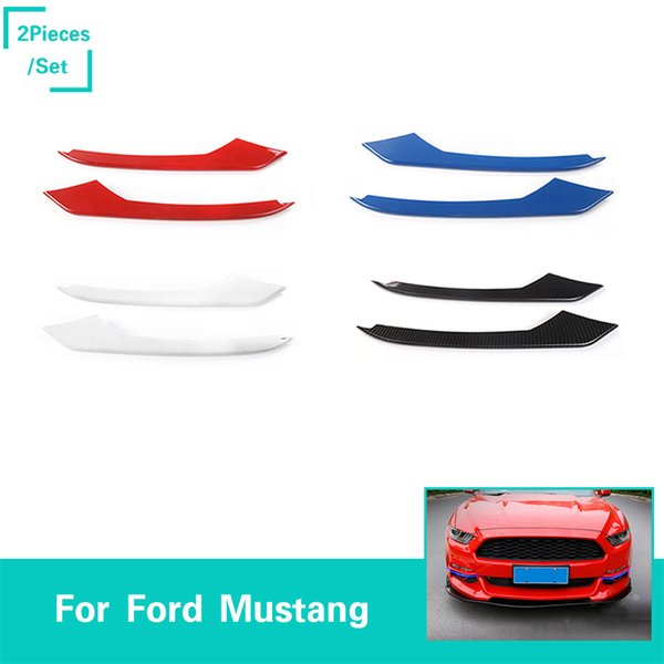 Car Front Fog Light Lamp Eyelid Eyebrow Strips Decoration Cover Stickers For Ford Mustang 2015+ Auto Styling Exterior Accessories