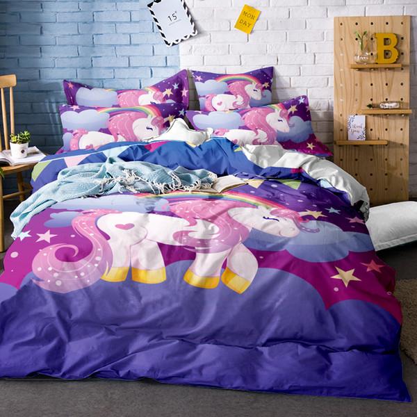 Großhandel Einhorn Abdeckung Für Bett Hochwertige Einhorn Bettwäsche