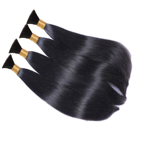 Unprocessed Raw Indian Human Hair Bulks For Weaves Extensions Braiding Straight Body Deep Loose Wave Natural Color 3pcs 4pcs