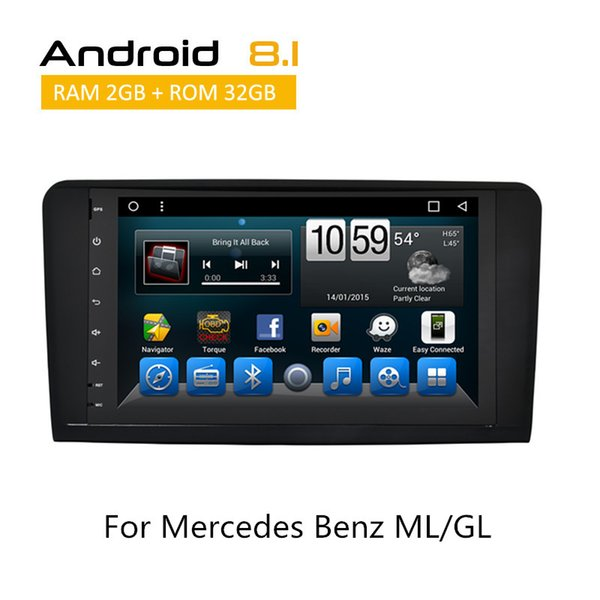 Double Din CAR DVD Radio Bluetooth Automobile For Mercedes Benz ML/GL In Dash Touch Screen Auto Radio GPS Navigation