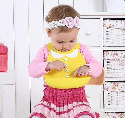 colorful Cute Baby Soft Silicone Bib Waterproof Saliva Dripping Kid Infant Lunch Bibs for kid decoration