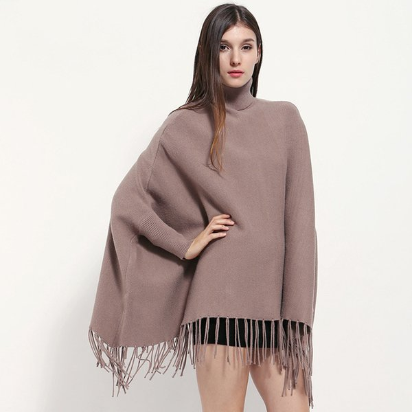 Fashion Ladies Coat Women Winter Ponchos And Capes Winter Warm Sleeve Shawls and Wraps for Ladies Poncho Stoles Women Capes Wearable Poncho