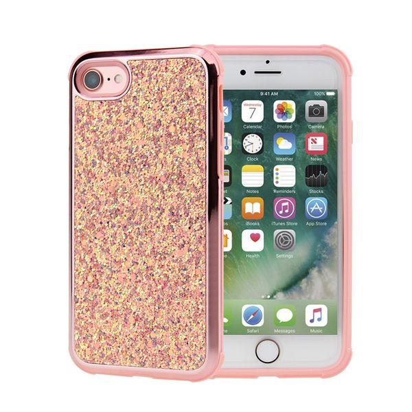 2018 Hot sale Premium bling for iphone 6 case 2in1 luxury diamond rhinestone glitter back cover phone case for Samsung defender case