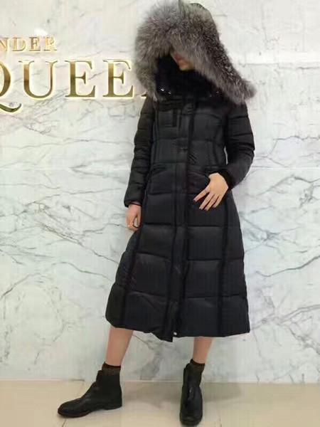 3e4a12b69b Women Winter Jacket Ladies Real Fox Fur Collar Duck Down Inside Warm Coat  Femme Long Coat 731