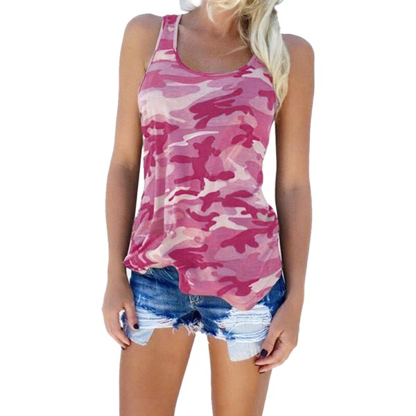 2018 Sexy Sleeveless Womens Camouflage Summer Vest Top Casual Strapless Ladies Loose Shirt Camisole Top Plus Size 3XL