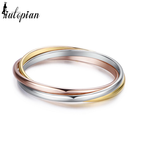 for Iutopian Brand 3 Colors Set Include 3 pieces ring for girlfriends Anti allergy #RG93048