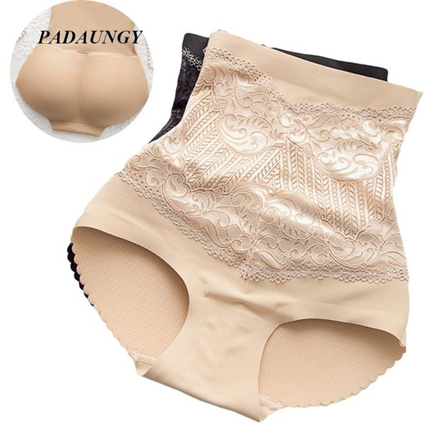 Wholesale- PADAUNGY High Waist Butt Lifter Seamless Underwear Hot Shapers Control Panties Plus Size Shapewear One Piece Panty Waist Trainer