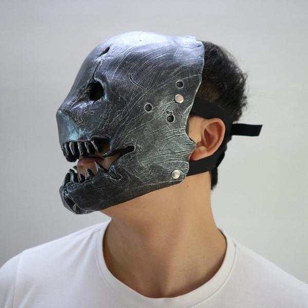 Masques De Fête 2018 Nouvelle Arrivée 1pcs Fête D'Halloween Masque De Boucher De Visage Halloween Cosplay Tueur Masque Horrible