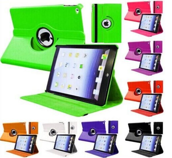 /Étui Bling Flip Smart Cover 360 /° en cuir pivotant pour iPad Air 2
