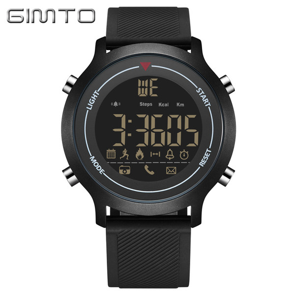 X GIMTO Bluetooth Sport Smart Watch Men Women Digital Silicone Waterproof Stopwatch Military Clock Shock electronic wrist watches