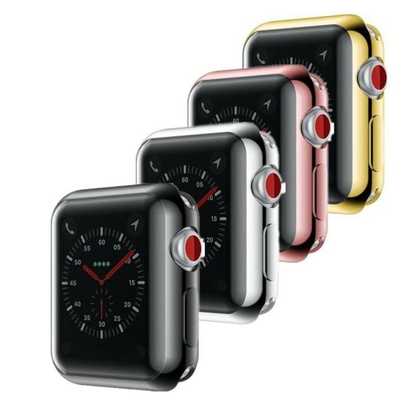 Pour Apple Watch Series 3/2/1 iwatch 38mm / 42mm Slim TPU Protecteur d'écran Protéger Housse