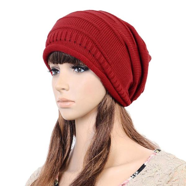 Hot Unisex Women Winter Beanie Knit Crochet Ski Cap Oversized Slouch Hat