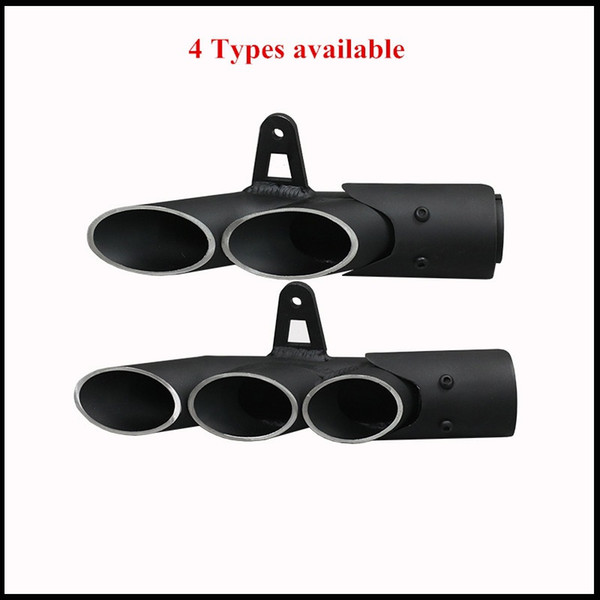 51mm Universal Motorcycle Double Hole Exhaust Muffler Pipe For Yamaha R6/1 Kawasaki Z750/800 Honda CBR1000