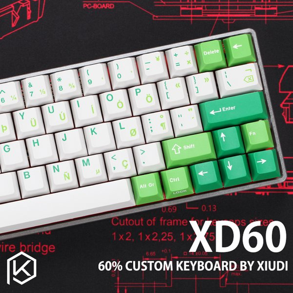 xd60 xd64 Kit de Teclado Mecânico Personalizado com até 64 teclas Suporta TKG-TOOLS Underglow RGB PCB GH60 60% programado gh60 kle