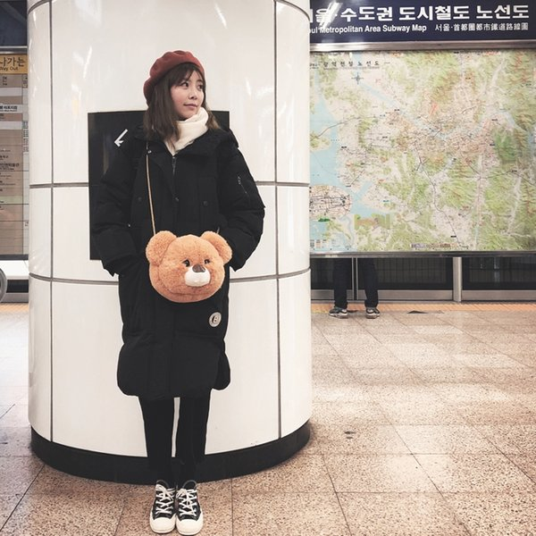 best selling 1pc Creative Kawaii Cute Bear Messenger Bag Girls Love Fashion Bag High Quality Best Choice Gift For Lady