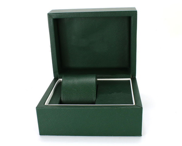 Fashion Watch Gift Boxes Green Leather Watch Boxes with Pillow Watch Packaging For Bangle Ring Earrings Wrist Wristwatch Box
