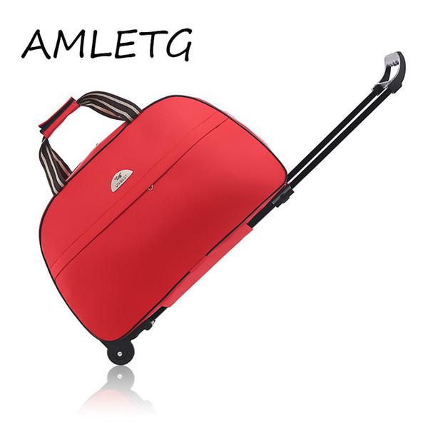 La nueva moda a prueba de agua bolsa de equipaje de estilo grueso Rolling maleta Trolley equipaje WomenMen bolsos de viaje maleta con ruedas