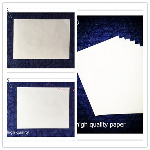 A4 216*279 size paper for pringting of security high quality with red and bule fiber white color samll moq