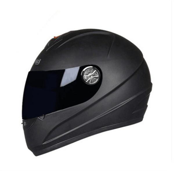 Motorcycle Helmet Full Face Street Motorbike Racing Breathable Helmet Approved Clear Lens Shield Moto Red color