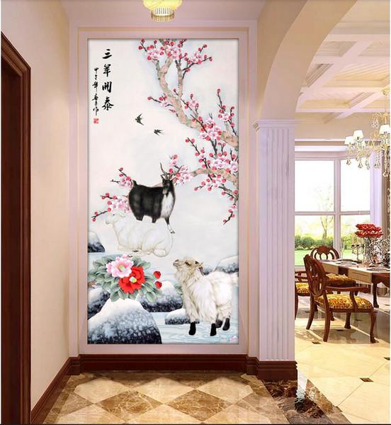 3d duvar kağıdı özel fotoğraf Sanyang Kaitai sundurma arka plan duvar boyama dekoratif muals duvar kağıdı duvarlar için 3 d