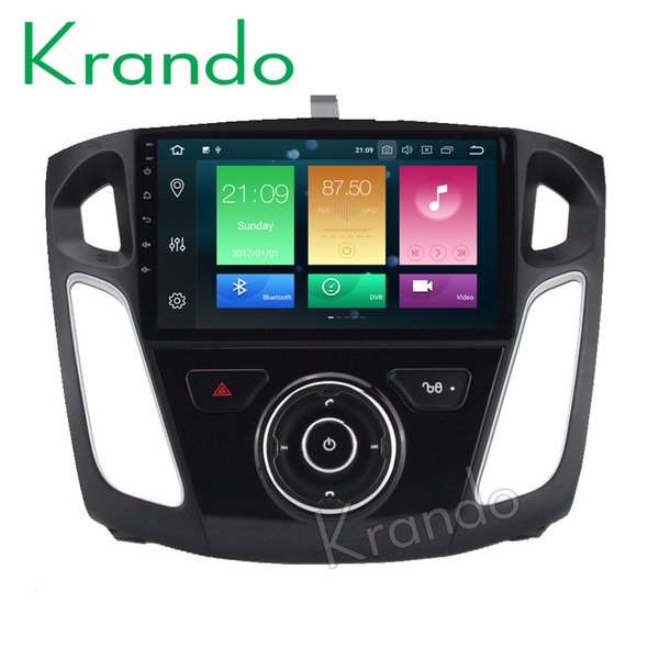 Krando Android 8.0 10.1'' car dvd radio gps navigation for Ford focus 2012-2015 entertainment player multimedia system