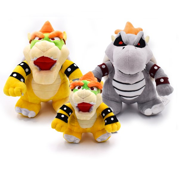 New Cute 23cm Super Mario 3d Land Bone Kubah Dragon Plush Toy Bolster Cartoon Soft Stuffed Dolls Dry Bones Bowser Koopa Gifts
