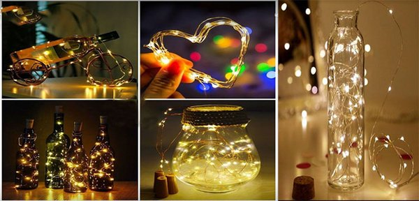 hot selling 2M 20LED Lamp Cork Shaped Bottle Stopper Light Glass Wine LED Copper Wire String Lights For Xmas Party Wedding Halloween