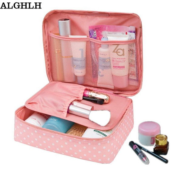 Waterproof Oxford Cloth Organizer Travel Toiletry Cosmetic Bag Gift for Women Beauticians Makeup Bags Zipper Make Up Wash Bag