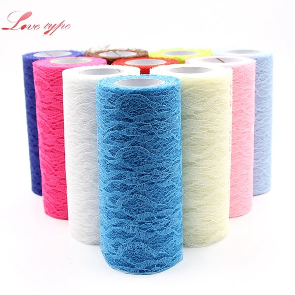 tulle organza 15CMx10Yard Tull Organza Lace Roll Fabric Ribbon DIY Home Garden Wedding Event Party Chair Sash Bow Table Runner Decoration