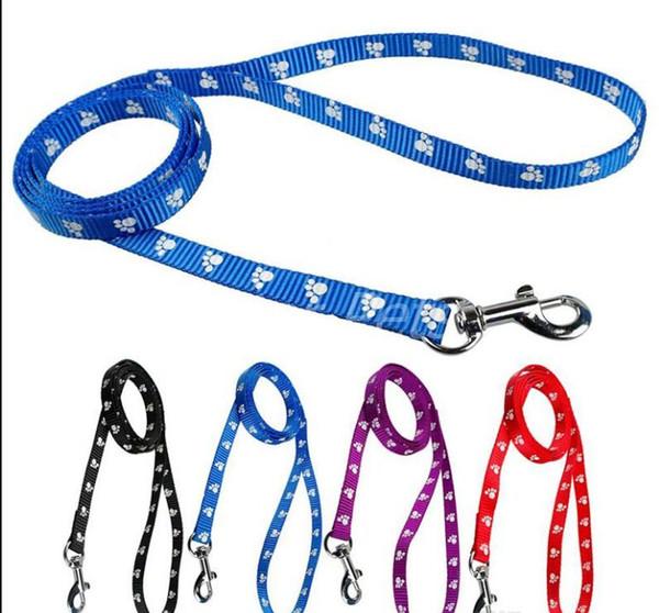 top popular 120cm Long High Quality Nylon Dog Pet Leash Lead for Daily Walking 1.0cm 1.5cm 2.0cm 4 Colors 2020