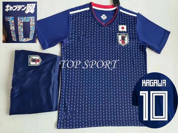 2018 Japan Soccer Jersey 18 19 Tsubasa Football Jerseys Shorts OKAZAKI KAGAWA HASEBE NAGATOMO Soccer Sets Mens Thai Quality Sports Uniforms