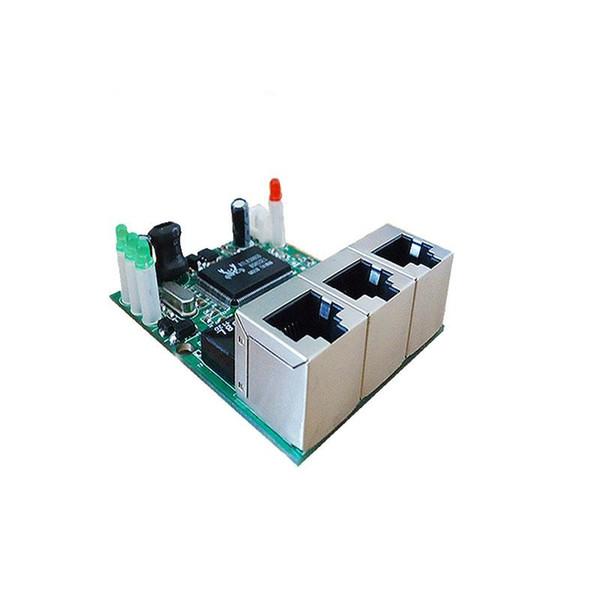 OEM shenzhen manufacturer company direct sell Realtek chip RTL8306E mini 10/100mbps rj45 lan hub 3 port ethernet switch pcb board