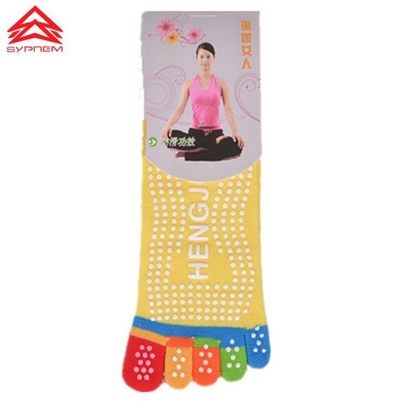 Compre SYPREM Siicone Dot Anti Slip Essential Yoga Socks Pilates ...