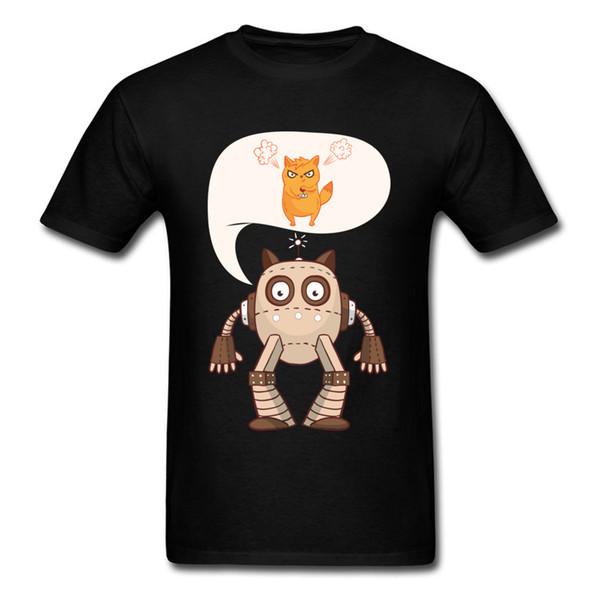 Gift T Shirt Hot Sale Custom T-shirts Men Cool Cotton Clothes O Neck Tops Video Game Shirts Controller Kitten Gamer Funny Cat TShirt