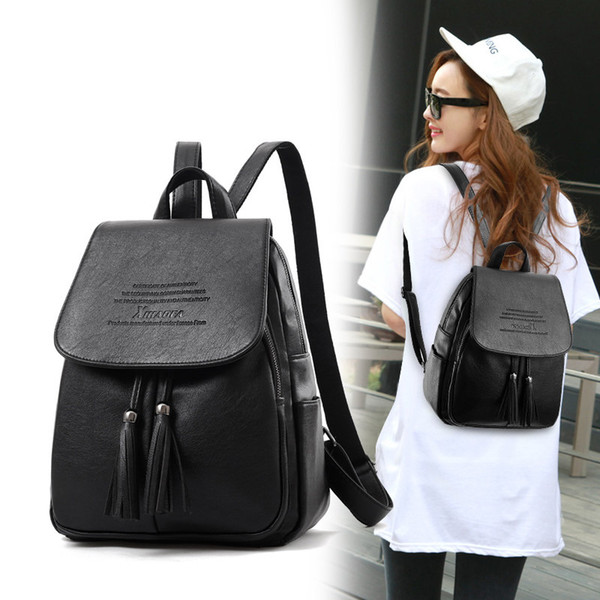 2018 the new Korean version of the fashion 2017pu sexy ladies' shoulder bag ladies casual 2017pu soft leather fresh Backpack