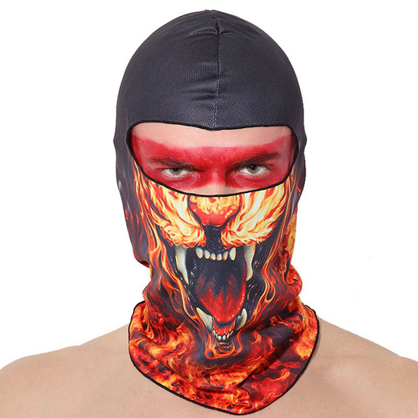 19 Style Breathable Headgear Windproof Full Face Mask High Quality Men Women Dust-proof Balaclava Hat Hood Cover Hats