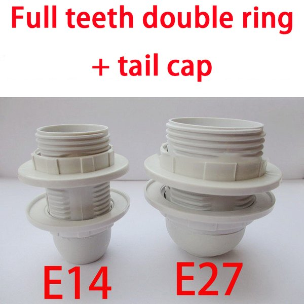 E14 E27 Display Stand Advertising Lamp Holder Screw Base Single Ring Double Ring Full Teeth Half Tooth Light Body Tail Cap Optional