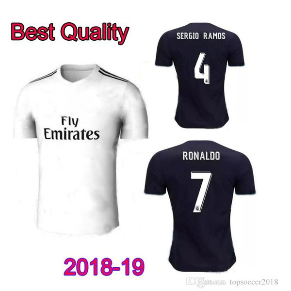 bfd436f148a Real Madrid home white Soccer Jersey 18/19 Real Madrid home soccer shirt  2019 #