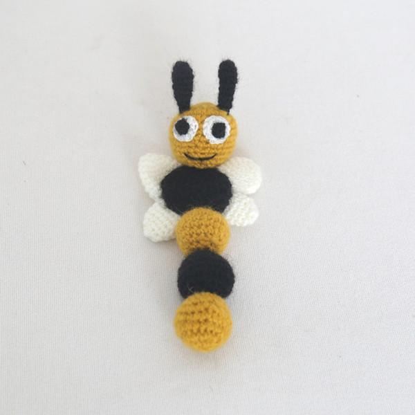 Bee Newborn Photo Prop Spring Baby toy Knit Bee Baby Toy HoneyBee 7ecb4204e4f9