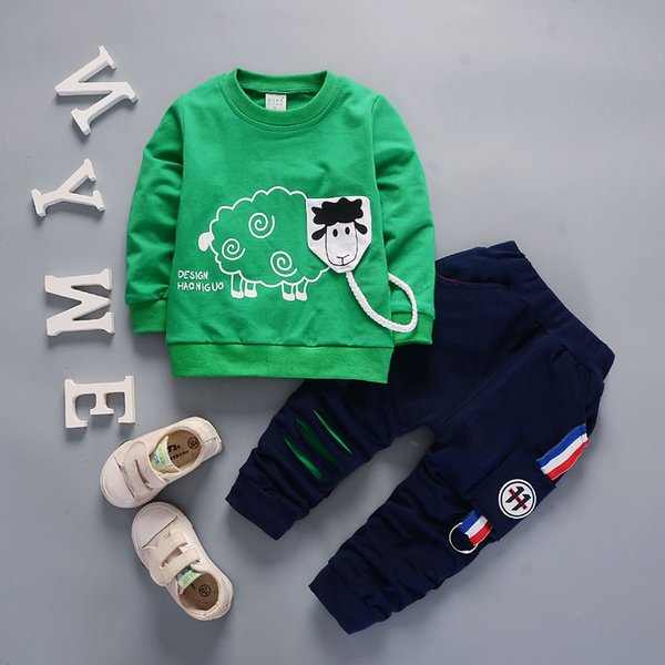 New Arrival Autumn Boy Clothing Set Kids Sports Suit Children Tracksuit Girls Tshirt Pant Baby Sweatshirt Cartoon Casual Clothes