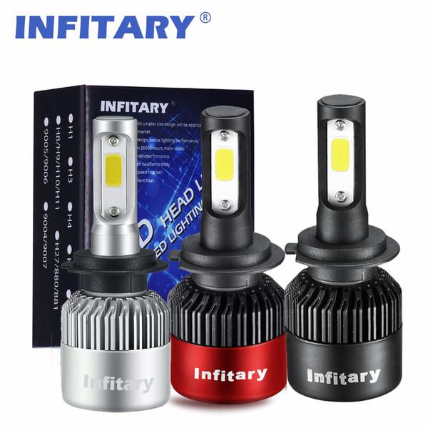 H7 LED phares de voiture H4 LED H1 H3 H8 H10 H11 9004 9005 9005 72W 8000LM 6000K 12V 24V ampoule de phare automatique