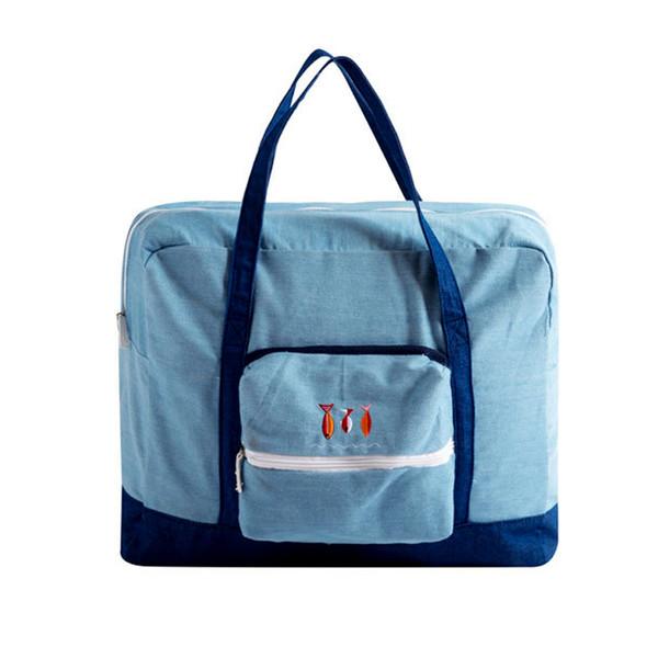 Travel Luggage Duffle Bag Lightweight Portable Handbag Green Mushroom Pattern Large Capacity Waterproof Foldable Storage Tote