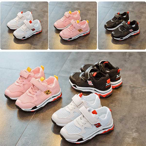 2018 nuevos niños de la manera zapatos corrientes niños