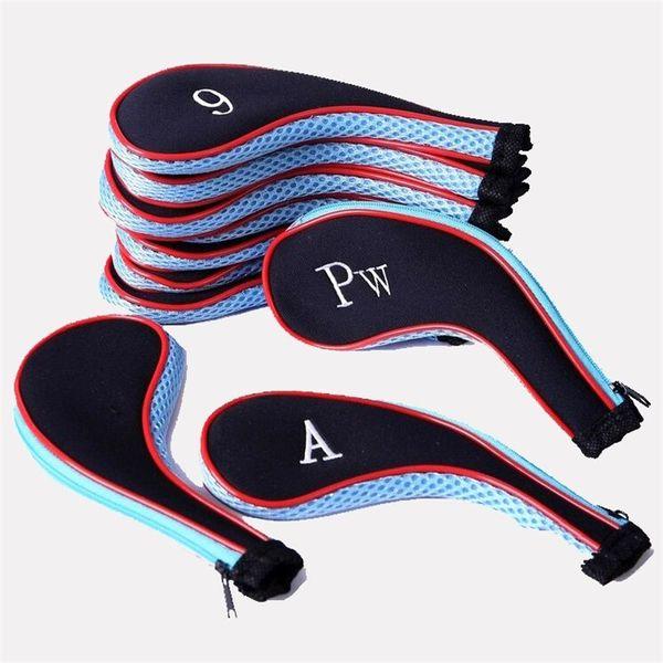 Golf Push Rod Cap Embroidery Piccolo portatile Head Cover Blake Simple Multi Color Soft Club Irons Set 20yp bb