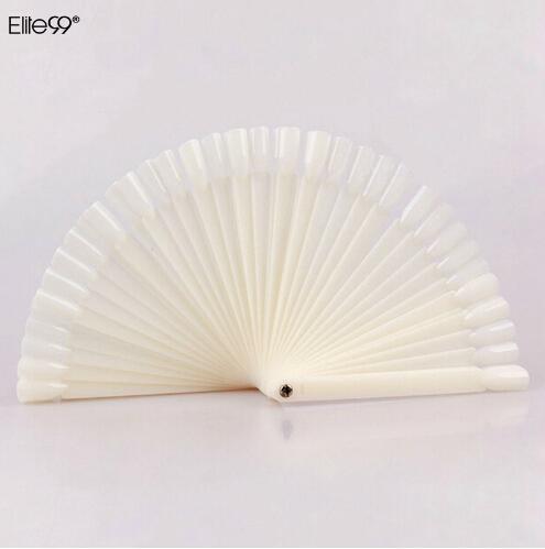 Elite99 50 pçs / lote Prego Prego Dedo Dicas Da Arte Do Prego Polonês Display Ferramenta Prática Para A Amostra Cobertura Completa Falso Nail Art Tips