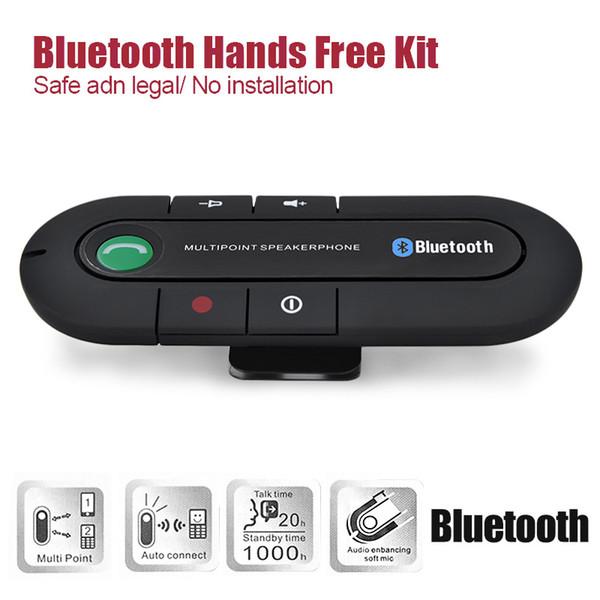 20pcs Bluetooth V3.0 Wireless Magnetic Speaker Phone Hands Free speakers In Car Kit Visor Clip Bluetooth Car Kit