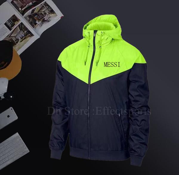 MESSI Sonbahar Ince Ceketler Erkekler Ceket Rüzgarlık için birleşik Sıcak Satış Spor Kapüşonlu Mont Erkek Sportwears