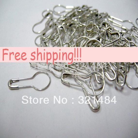 22mm 1000 unids Plateado Ropa de la Ropa etiqueta accesorios de broche en forma de calabaza broches de seguridad de la etiqueta de ropa ganchillo