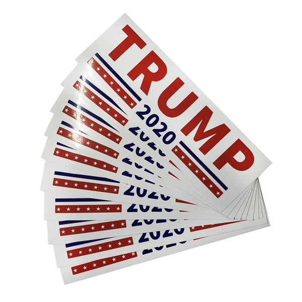 best selling 2 Styles Donald Trump 2020 Car Stickers 7.6*22.9cm Bumper wall Sticker Keep Make America Great Decal for Car Styling Vehicle Paster